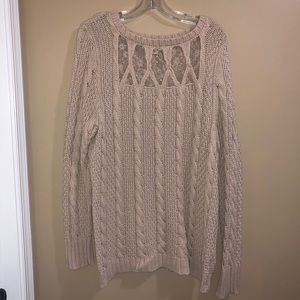 Lauren Conrad Tan sweater size XL